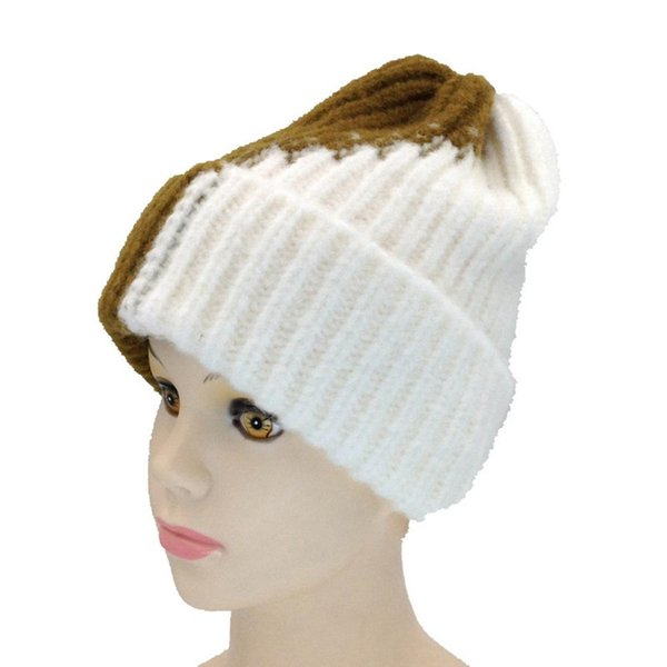 mrwonder Winter Men/Women Color Block Knitted Cap Unisex Warm Woolen Hat