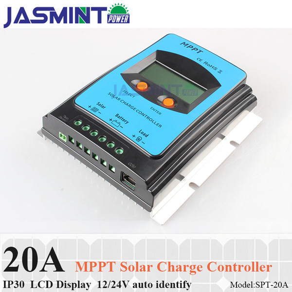 LCD Display 20A 12V/24V MPPT Solar Panel Battery Regulator Charge Controller 20a solar charger controller mppt for household