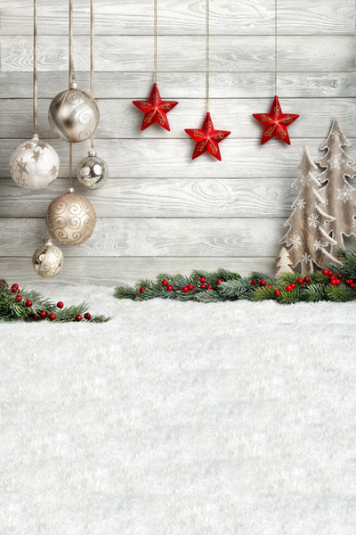 Christmas Wood Background.2019 Dream 5x7ft Christmas Wood Backdrop For Children Photography Grey Wooden Background Decoration White Snowflake Floor Background Prop Studio From
