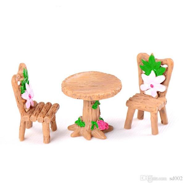 DIY Bryophyte Micro Landscape Plants Fairy Bonsai Garden Decor Miniatures Wooden Cherry Blossoms Table Chair Resin Crafts Supplies 2 5cj bb