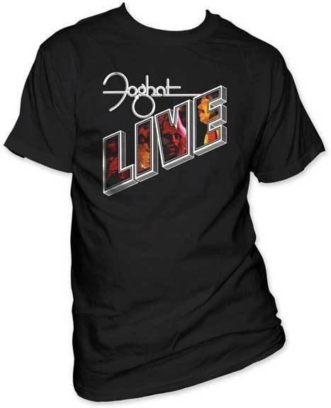 FOGHAT - Live - CAMISETA S-M-L-XL-2XL A estrenar - Camiseta oficial Estilo Redondo estilo camiseta Camisetas Camiseta personalizada Jersey