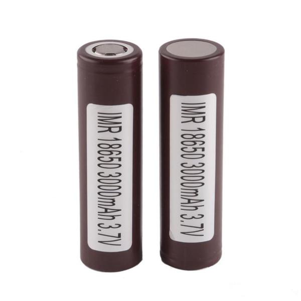 100% 18650 batteries rechargeables de LG HG2 Samsung INR18650 30Q 3000MAH HE2 HE4 INR 25R 2500mah utilisant la cellule