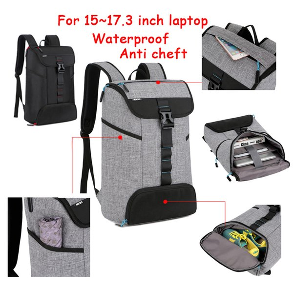 2017 New Laptop Backpack 15 15.4 15.6 17 17.3 Inch Travel outdoor Bag Top zip design For Macbook Pro Man Universal Waterproof