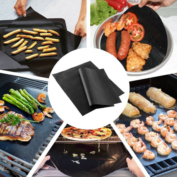 Tappetino antiaderente per barbecue Griglia per barbecue riutilizzabile Cottura in teflon Lastre grigliate stoviglie per barbecue 33x40cm Resistenza alle alte temperature