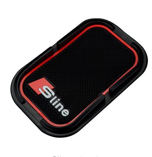 Car Styling Anti Slip Mat Sline 3D Mobile Phone GPS Holder Non Slip Pad S Line Emblem Badge for Audi A3 A4 B7 B8 A6 C5 A5 Q5 Q7