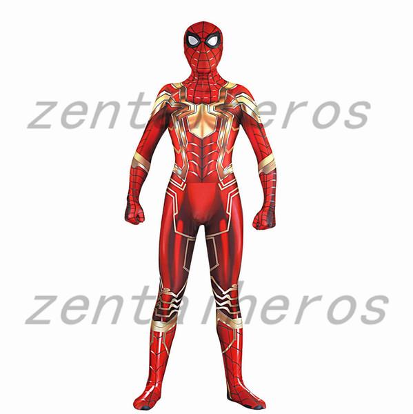 Spider-Man Kostüm MCU Eisen Spinne Rot Gold Version Superhero Kostüm Neue Epoche Eisen Spider Lycra Zentai Body Halloween Cosplay Teil