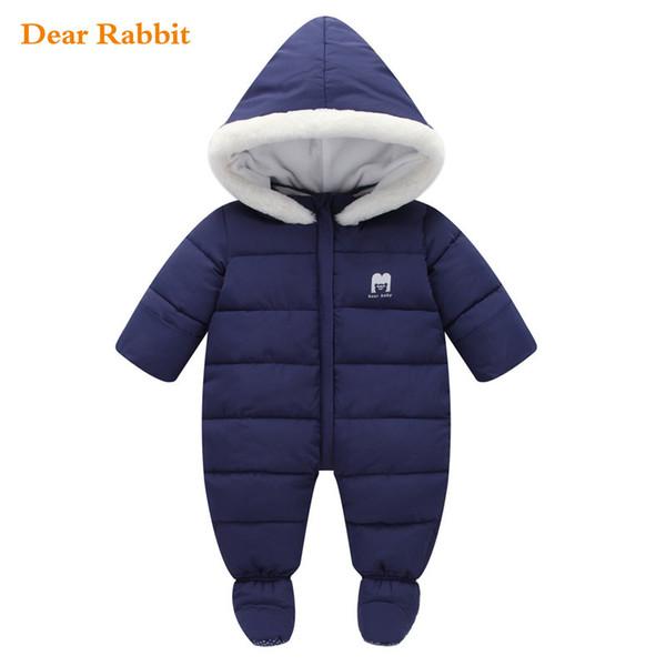2018 neue Schneeanzug Baby Kleidung Baumwolle Footies Winter für junge Jacke Mädchen Mantel Mädchen dicke warme Kleidung Neugeborenen Säuglings Schnee tragen