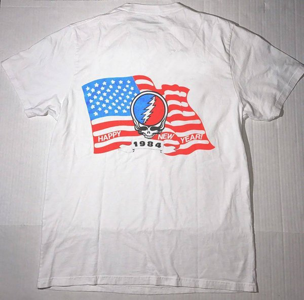 VTG Grateful Dead New Year Concert 1984 - Short Sleeve T SHIRT Reprint Top Tee Plus Size T-shirt Harajuku