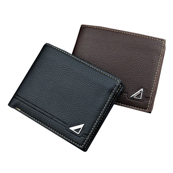 Hot Men's Small Wallet 3 Fold Solid Color Multi-card Card Holder Male Mini Purse Clutch Hand Bag high quality credit card holder