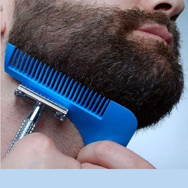 New Hot Sale Real Hairbrush Hair Comb Beard Shaping Tool Sex Man Gentleman Trim Template Hair Cut Molding Modelling Tools