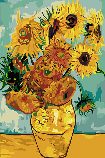 Van Gogh Vase with Twelve Sunflowers Fine Art Giclee Canvas Print Art on Canvas Wall Art Oil Painting Poster Picture Office Home Decor