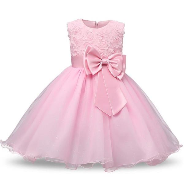 Princess Flower Girl Dress Summer 2018 Tutu Wedding Birthday Party Dresses For Girls Children's Costume Teenager Prom Designs