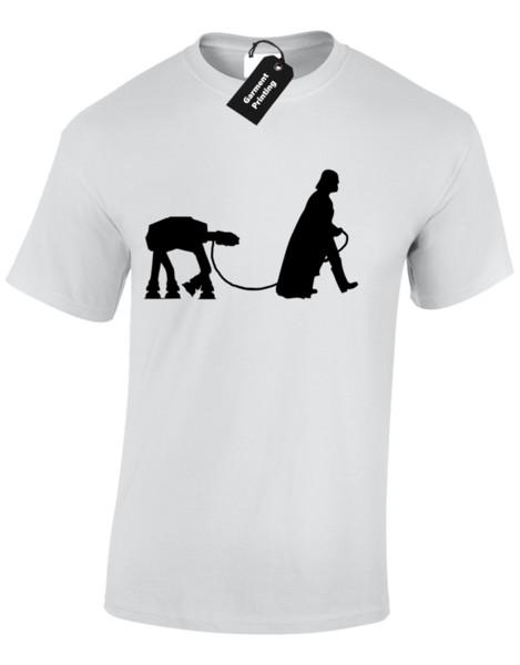 Kids Boys Girls Darth Dog Walker T-Shirt funny vader star trooper storm wars