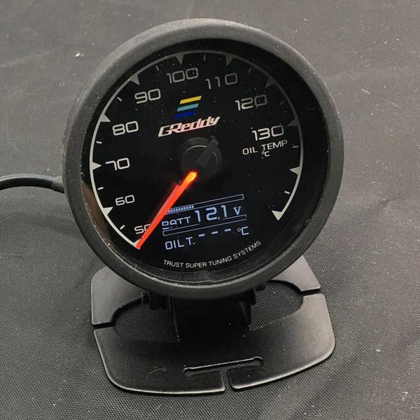 top popular Free Shipping 62mm 7 Color in 1 Racing GReddy Multi D A LCD Digital Display Oil Temp Gauge Oil Temperature Sensor 2021