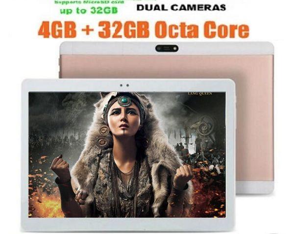 10 Zoll 3G Tablette Octa Core 4 GB RAM 64 GB ROM Android 6.0 HD Doppelkameras 5.0 MP-Telefonanruf Tablets 10.1 1280x800