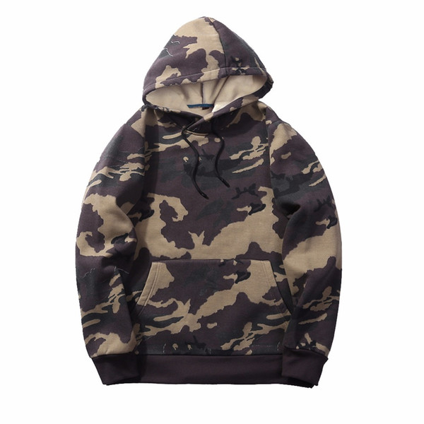 EU/US Size Mens Hoodies Sweatshirts Men Camo Army  Fleece Hood Sweatshirt Camouflage Streetwear Male Casual Tops Clothes