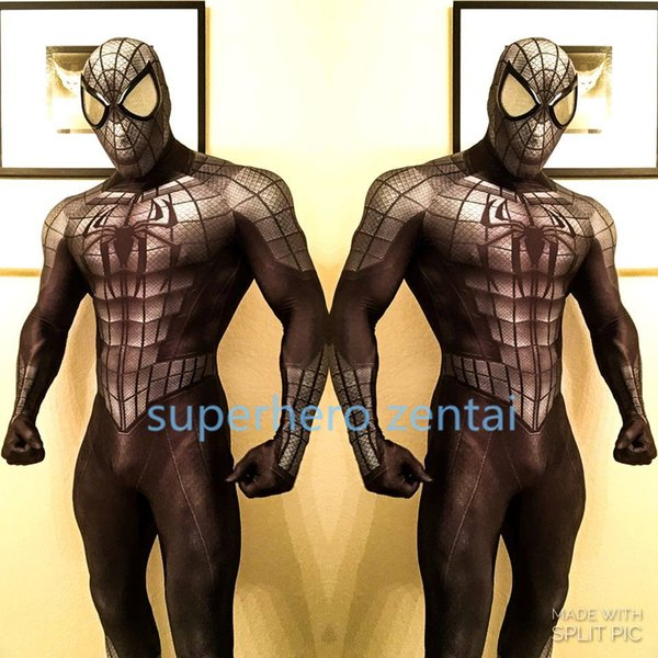 Newst 3D print Armored Spider-man Costume men lycra Spandex Full Body zentai Suit Cosplay catsuit adult /customized