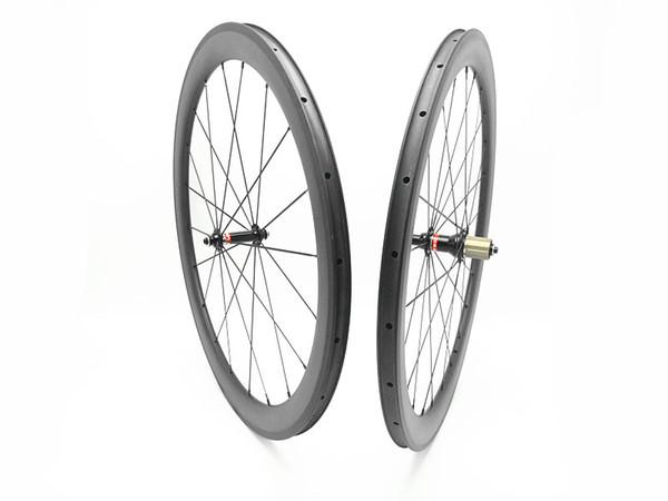 carbon wheels 700C 50mm 38mm 60mm 88mm powerway R51 Straight pull hubs clincher tubular 23mm width bike wheels wheel