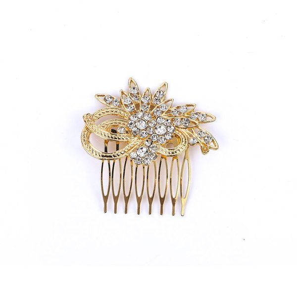 Women Barrette Crystal Bridal Rhinestone Hair Clip Claw Comb Pin For Wedding Headdress Girls Hairpin Hair Accessories Trendy