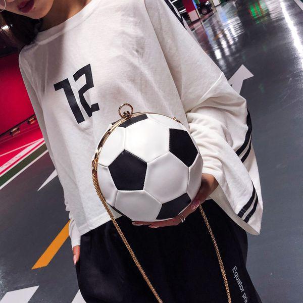 Fashion round football women chain shoulder bags high quality luxury designer lady handbag message bag crossbody pu leather free shipping