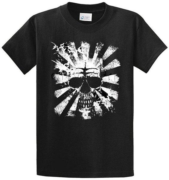 T-shirt a manica corta per uomo. T-shirt a manica corta con stampa teschio