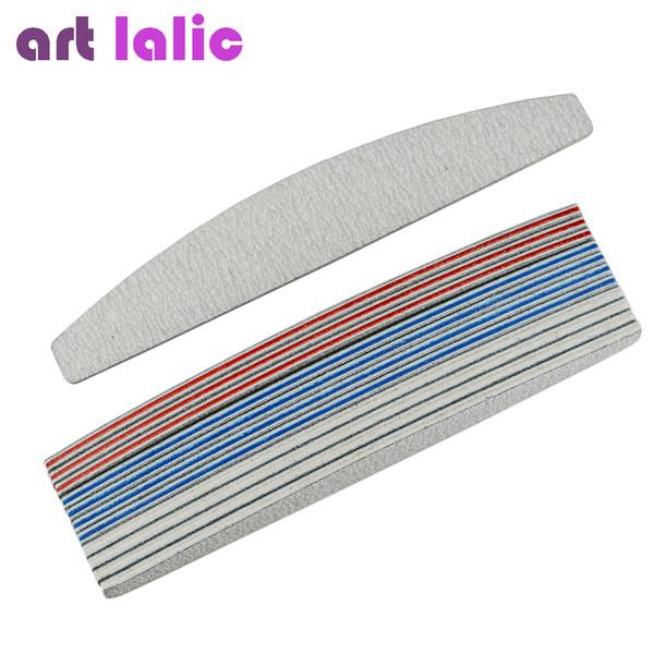 Artlalic 12 Pcs Nail Files Sanding 3 Colors Block for Nail Art Tips 18*3cm Manicure Pedicure Buffing Polish Block Beauty Tools