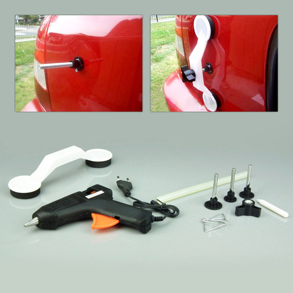 best selling Free shipping Car Dent Repair Tool Removal Hand Repair Kit Car Door Body Vehicle Auto 40W Hot Melt Glue Gun+Glue Stick Pulling Bridge Device