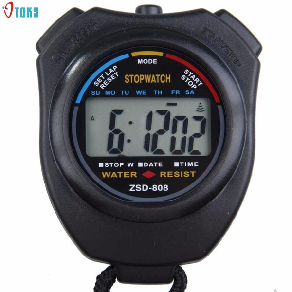 High Quality Digital Handheld LCD Sports Professional Chronograph Sports Stopwatch Stop Watches Relogio Masculino