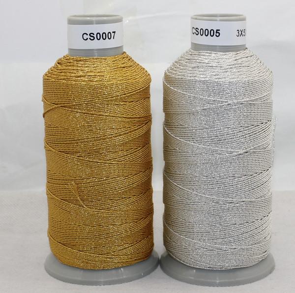 15 fili oro argento filo per ricamo filo per cucire filo per filato 255m