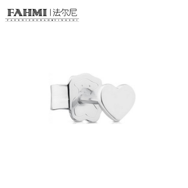 FAHMI 100% Sterling Silver Retro Charming Love Heart Shape Stud Earrings Charm Women Elegant Jewelry Birthday 611143500