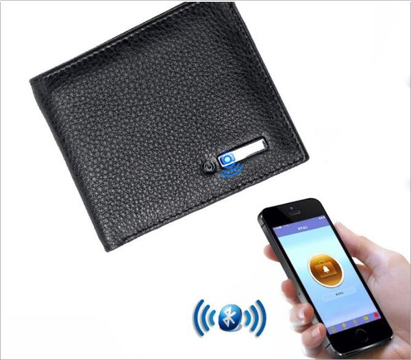 Smart Wallet Men Genuine Leather Anti Lost Intelligent Bluetooth Purse Card Holders Money Storage Bag Suit for IOS Android Tracker
