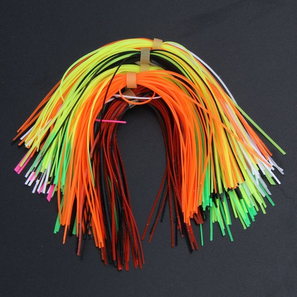 ilicone skirts 10 Bundles 30 Strands Silicone Skirts Fishing Tackle Accessories DIY Spinnerbatis Buzzbaits Rubber Jig Lure Squid Rubber S...