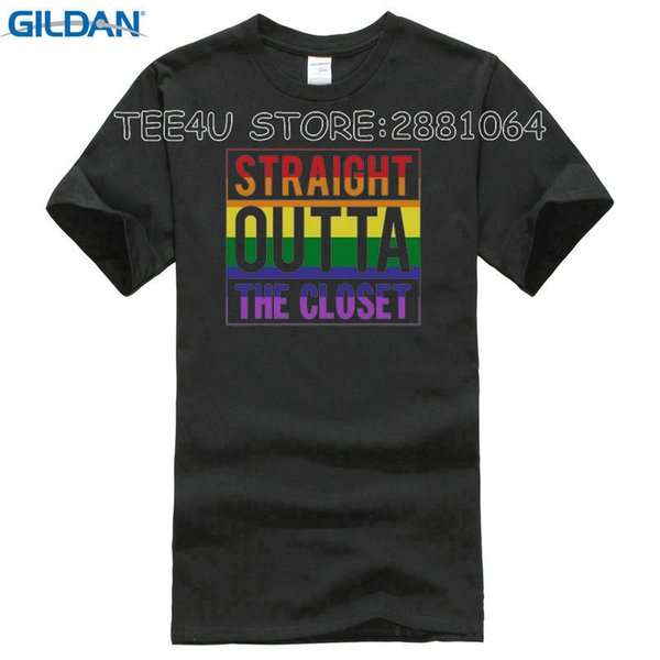 2018 Hot Sale Fashion Nylon Tee4u Unisex More Size And Colors Men New Style Short Sleeve The Closet Gay Lesbian Pride Tee Shirt