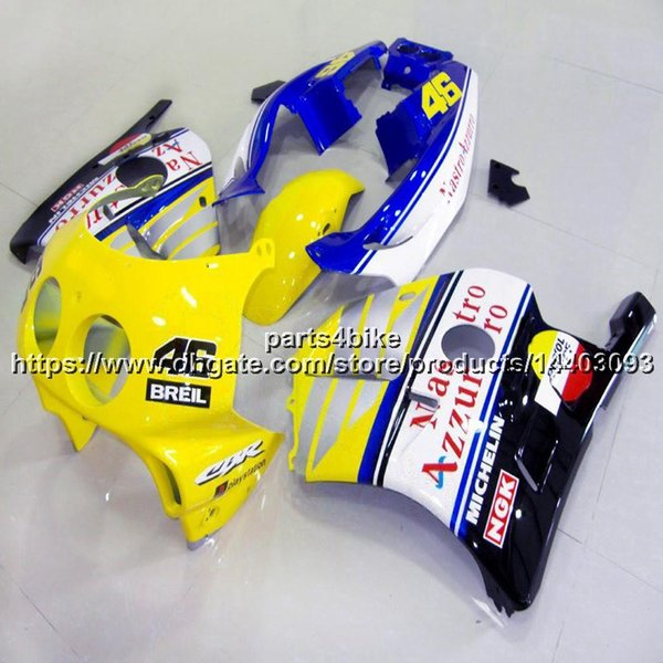 5Gifts+Injection mold yellow blue Body Kit motorcycle for Honda CBR250RR MC22 1990 1991 1992 1993 1994 1995 1996 1997 1998 1999 ABS Fairing
