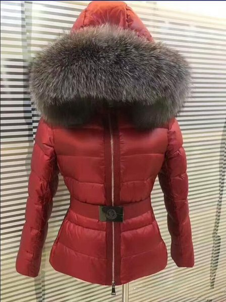 Capuche M419 Fourrure Veste Acheter Réel Manteau Col Le De Tatie Renard Bas Femme France D'hiver Épais Vers Vêtements Marque vmN0O8nw