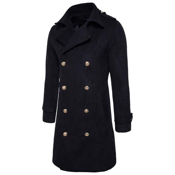 95c5fd930bf Nueva gabardina hombres 2018 chaqueta para hombre abrigo Casual Slim Fit  cortavientos sólido abrigo largo Hombres