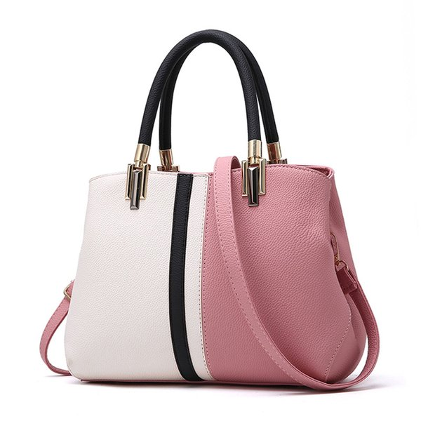 Frauen Mode Handtasche Weiblichen Patchwork Reißverschluss Casual Schultertasche Dame Pu-leder Hohe Qualität Tägliche Tasche Tote Crossbody