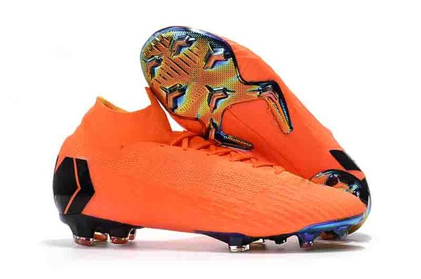 newest e8523 8fbac 2019 Original Newest Mens And Womens Mercurial Superfly Orange Gold VI 360  Elite FG Fashion Football Boots From Ccl2013, $119.4   DHgate.Com