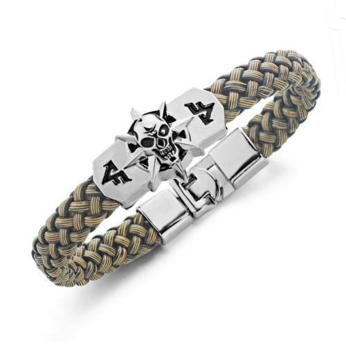 Игровые расширения уникальный крест огонь CF реплика PU кожаный скелет череп сплава пряжки манжеты браслет