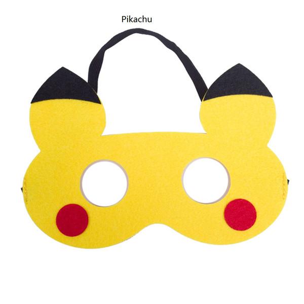 Os Elfos Bebê Máscaras Pikachu máscara para crianças Máscaras de baile de máscaras de Natal Dia Das Bruxas presentes do partido favores