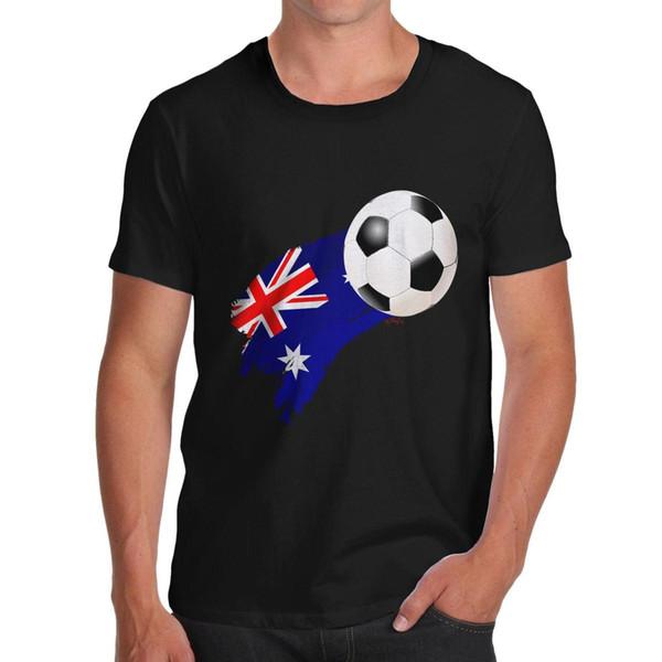 Satın Al Bükülmüş Envy Avustralya Futbol Bayrağı Boya Splat Erkek