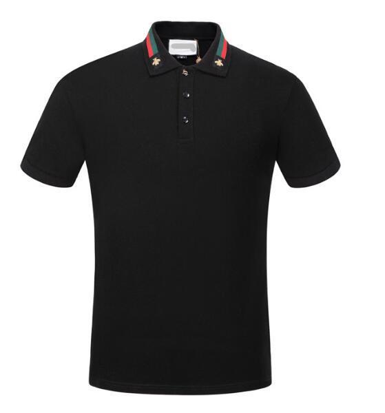 2018 nuevos hombres marca polo camiseta colorida impresión cuello moda camiseta de manga larga camiseta hombres polo 4279