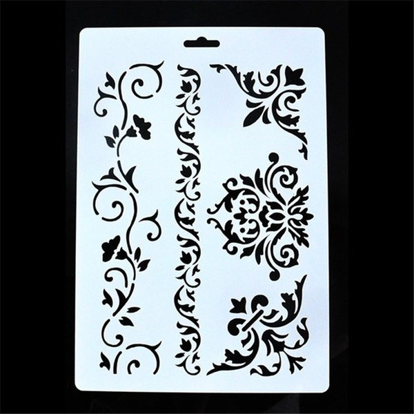 best selling DIY Painting Vintage Flower Template Stencil Reusable Layering Craft Stencils For Wall Painting Scrapbooking Stamps Album Decor