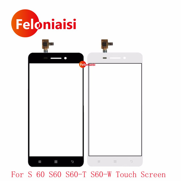"10Pcs/lot High Quality 5.0"" For Lenovo S 60 S60 S60-T S60-W Touch Screen Digitizer Sensor Front Glass Lens Panel Black White"