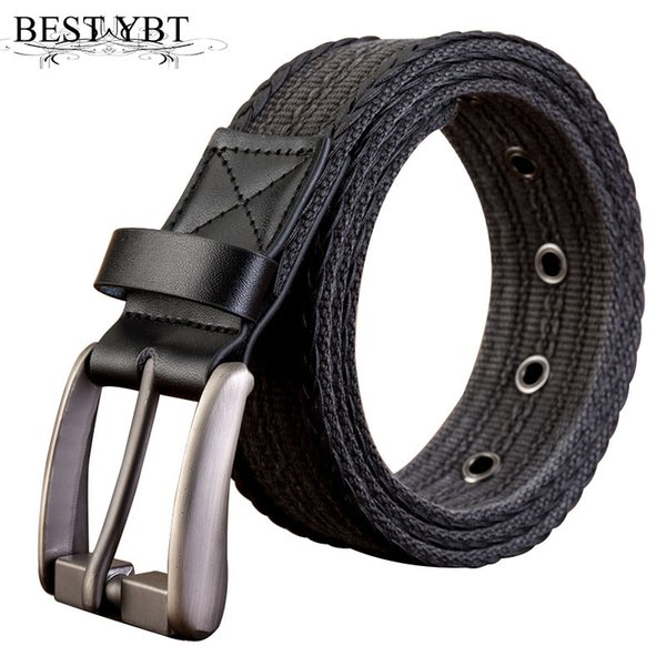 Best YBT Unisex Belt Canvas Alloy Pin Buckle Women Belt young students Cowboy Outdoor Soports High Quality Hot Selling Men