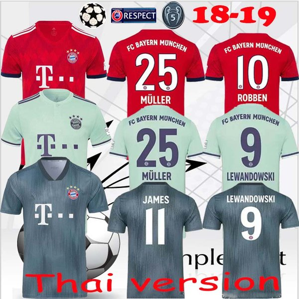 the best attitude 0ba54 3bf9e 2019 Men Soccer Bayern Munchen 18 19 Season 6 Franz Beckenbauer Jersey 15  Gerd Muller 21 Philipp Lahm 9 ELBER Football Shirt Kit Uniform From ...