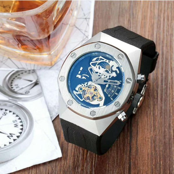 Top Selling Luxury Watch Special Men Rubber Band Gold Stainless Steel Automatic Mechanical T Men Men's Watch Watches B1