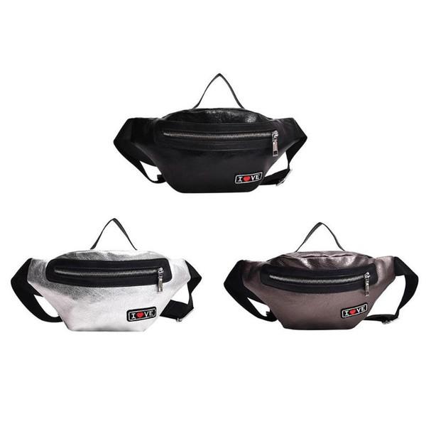 2018 PU Leather Women Waist Bag Teenage Girl Waist Fanny Pack Belt Pouch Phone Leisure Shoulder Chest Bags