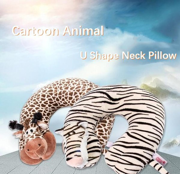 TECHOME Cartoon U Shape Animal Neck Pillow Cushion Neck Pillow For Travelling Car Office Nap Sleep Decorative