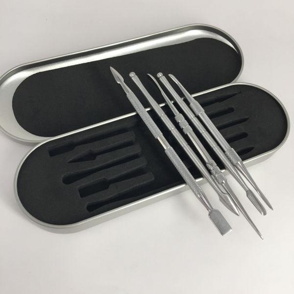 Neues Design Titanium Nail Dabber Werkzeugset mit Aluminiumbox Verpackung für Dry Herb Vaporizer Pen